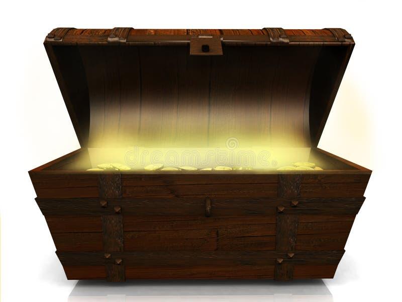 Vecchia cassa di tesoro. royalty illustrazione gratis