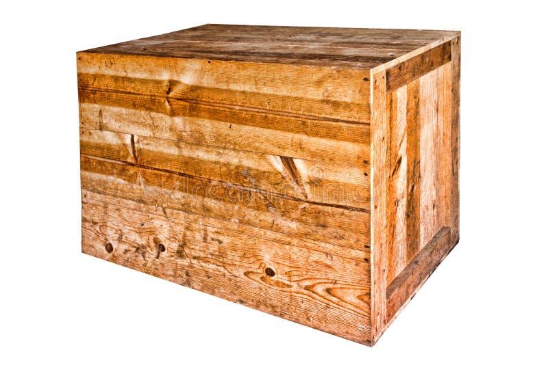 Vecchia cassa resistente di legno di trasporto   immagini stock libere da diritti