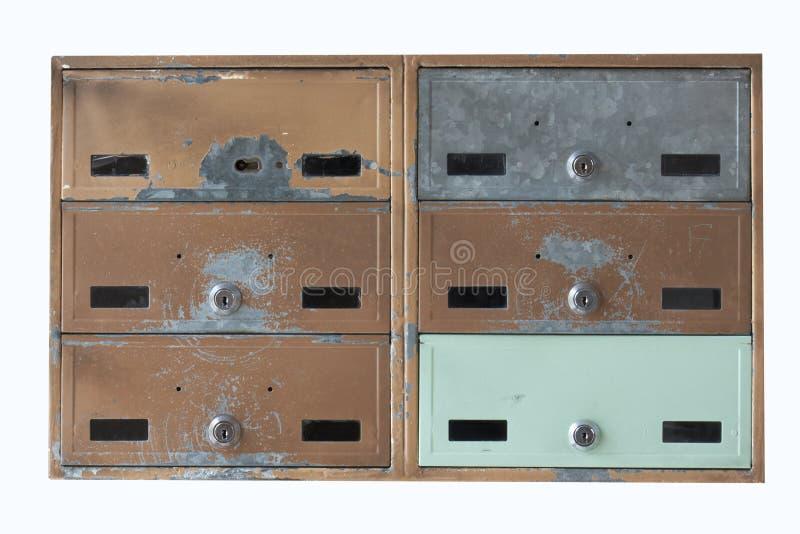 Vecchia cassetta postale immagini stock