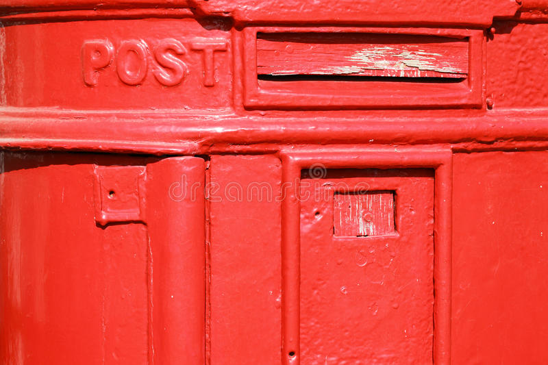Vecchia cassetta postale del metallo fotografie stock libere da diritti