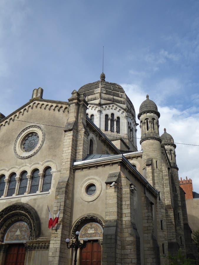 Vecchia cattedrale a Digione, Francia fotografie stock libere da diritti