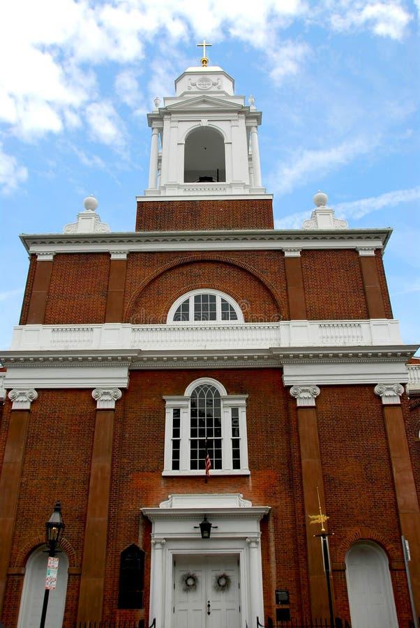 Vecchia chiesa a Boston fotografie stock