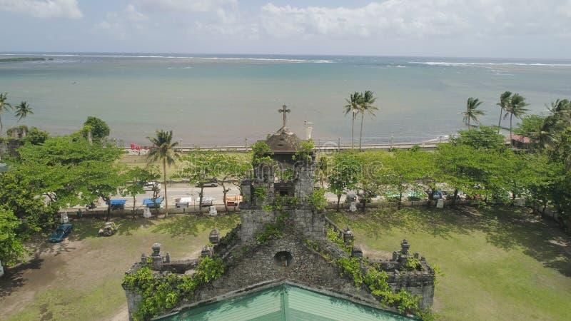 Vecchia chiesa cattolica Barcellona, Sorsogon, Filippine immagini stock