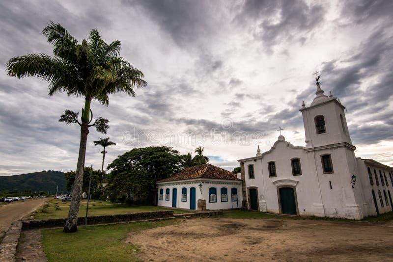 Vecchia chiesa coloniale di stile fotografia stock libera da diritti