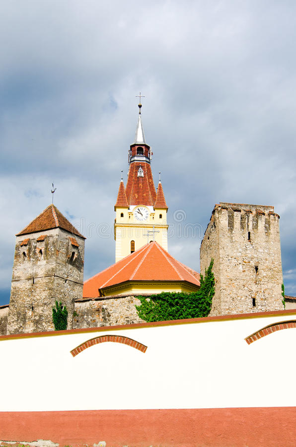 Vecchia chiesa in Cristian, Brasov, Romania fotografie stock