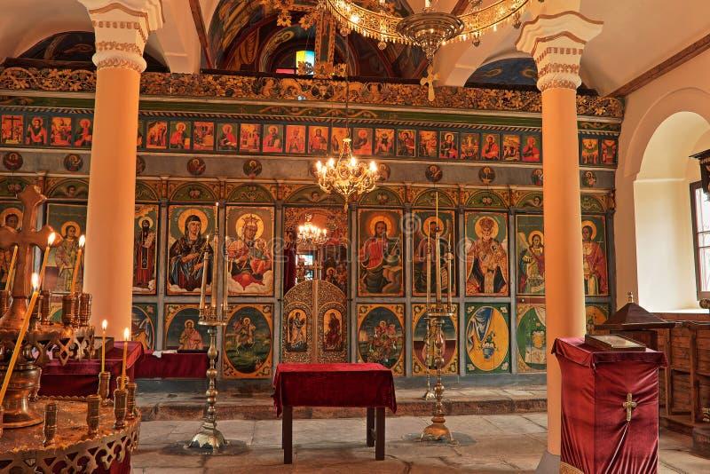 Vecchia chiesa cristiana, interno, Bulgaria fotografie stock libere da diritti