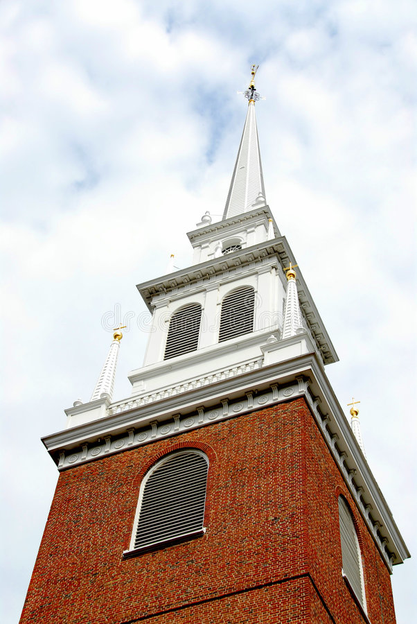 Vecchia chiesa del nord a Boston immagini stock libere da diritti