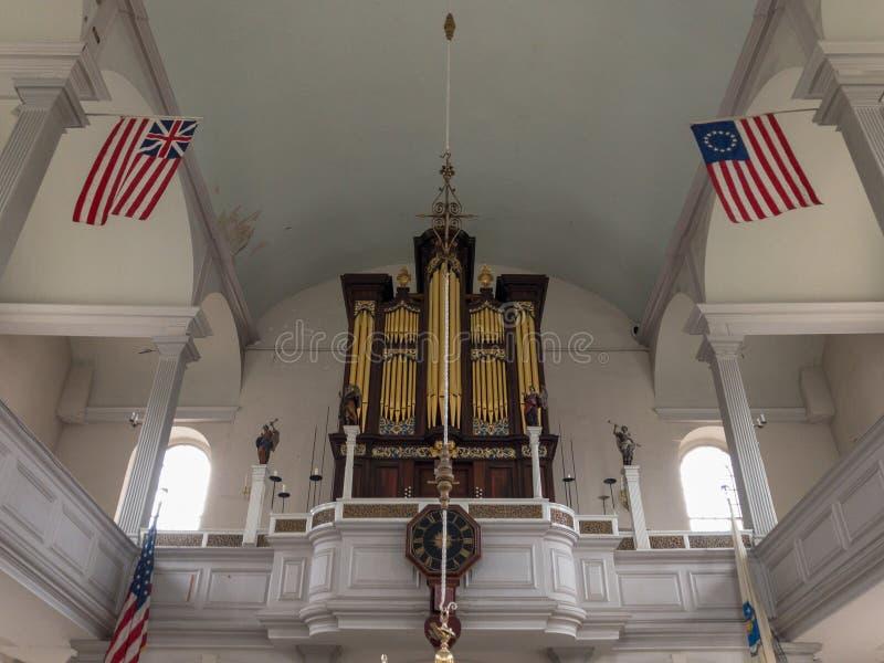 Vecchia chiesa del nord - Boston, Massachusetts immagine stock libera da diritti