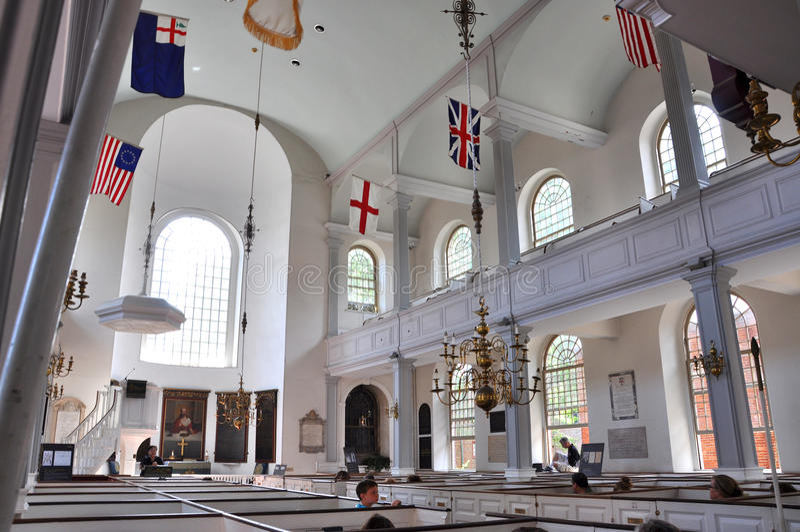 Vecchia chiesa del nord, Boston, S.U.A. fotografia stock libera da diritti