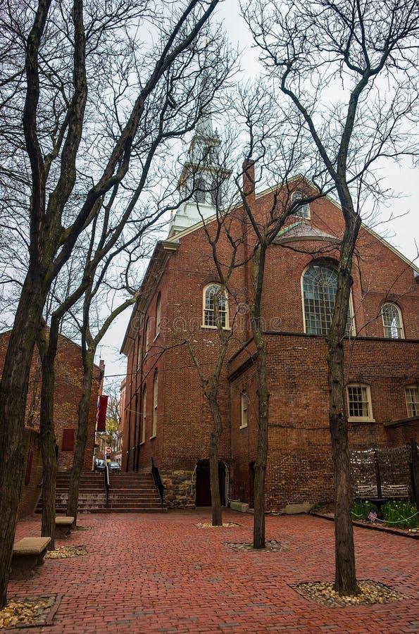 Vecchia chiesa del nord di Boston immagini stock