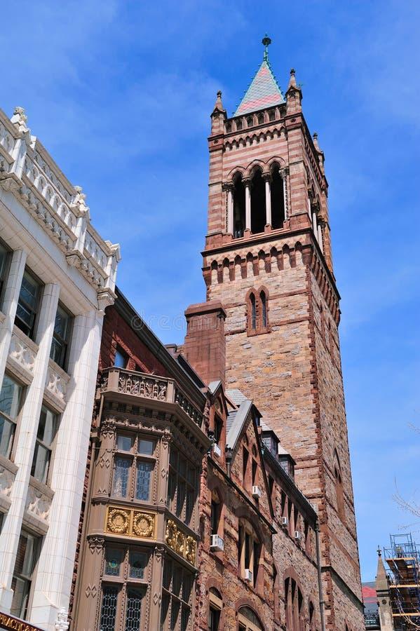 Vecchia chiesa del sud di Boston fotografie stock