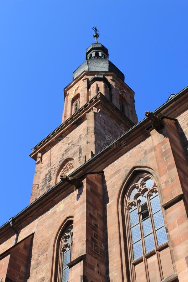 Vecchia chiesa della città di Heidelberg immagini stock