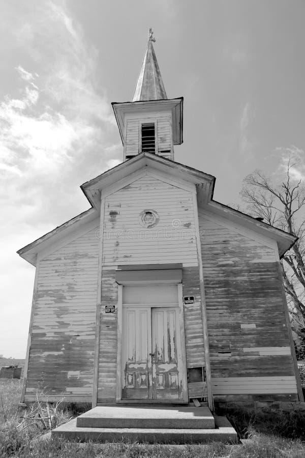 Vecchia chiesa 1812 della scuola immagini stock