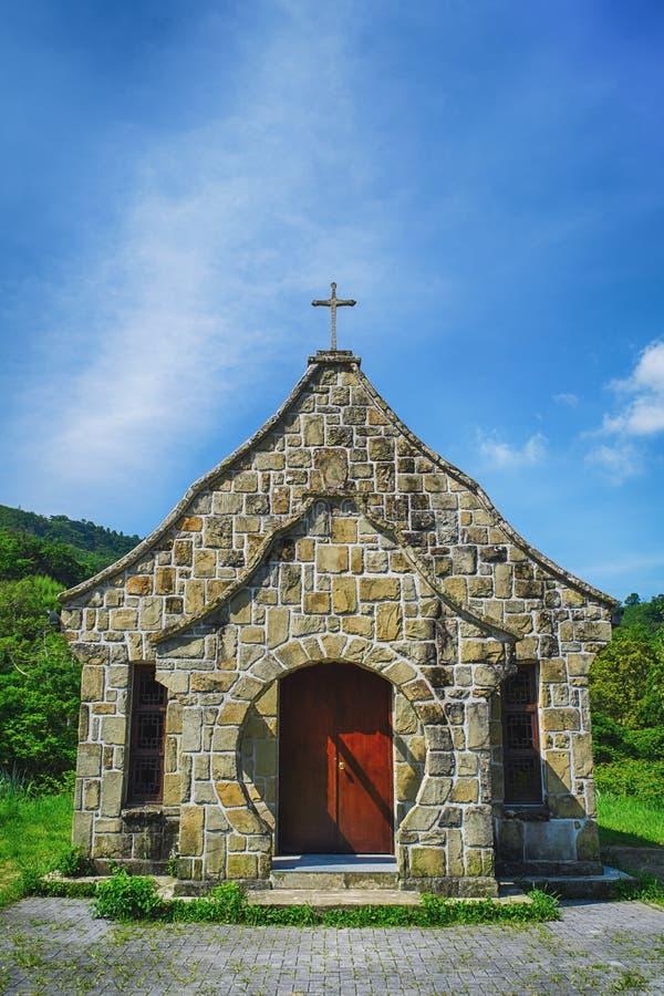 Vecchia chiesa di Jiguopai & x28; Church& x29 della TUBA; nel distretto di Fuxing, Taoyuan, Taiwan fotografia stock libera da diritti