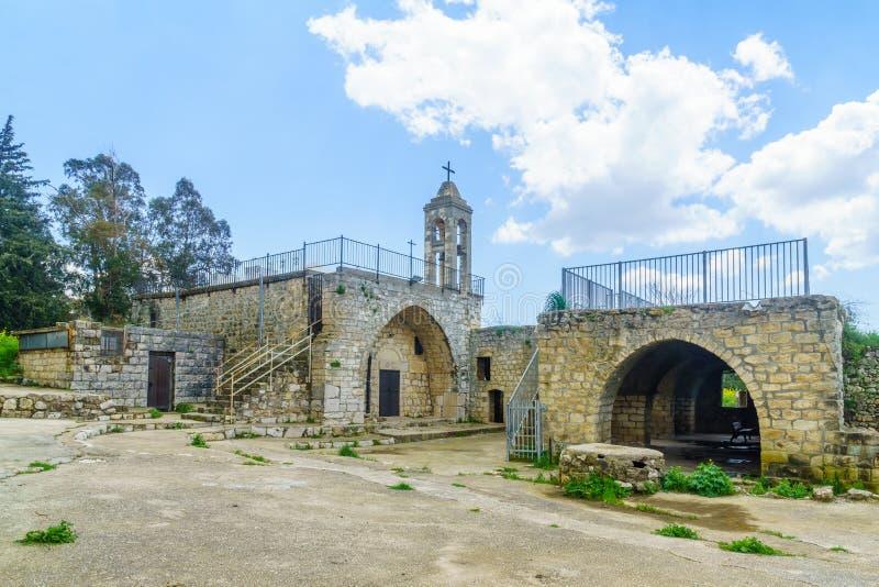Vecchia chiesa di Maronite nel parco nazionale di Baram fotografia stock