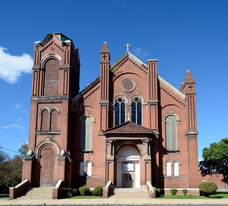Vecchia chiesa di Peoria fotografie stock