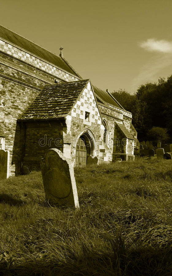 Vecchia chiesa, Hastings, Sussex orientale, Inghilterra fotografia stock libera da diritti