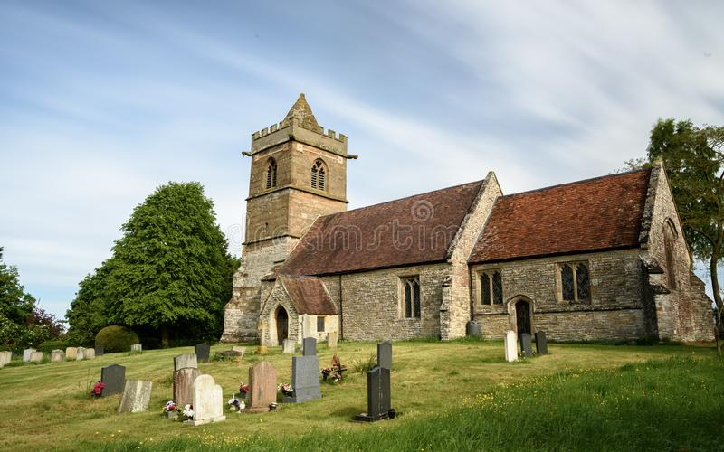 Vecchia chiesa in Inghilterra fotografie stock libere da diritti
