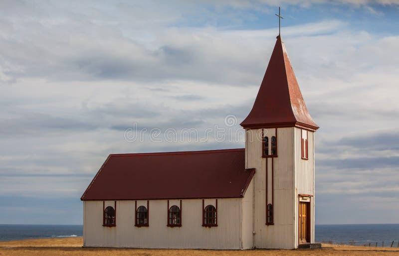 Vecchia chiesa islandese fotografia stock