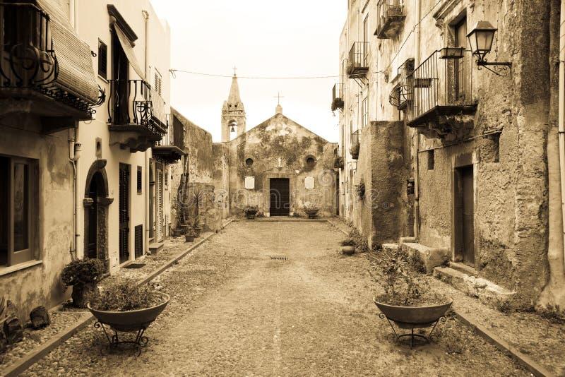 Vecchia chiesa, Lipari immagine stock