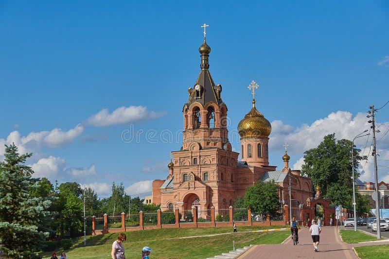 Vecchia chiesa ortodossa ristabilita La Russia christianity fotografia stock