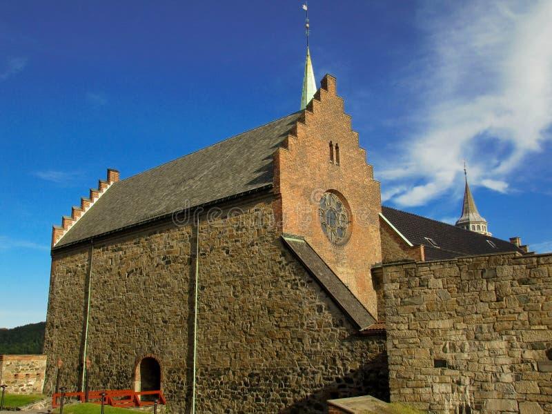 Vecchia chiesa reale Oslo fotografia stock
