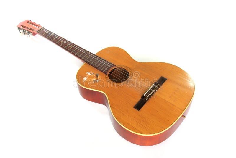 Vecchia chitarra acustica fotografia stock libera da diritti