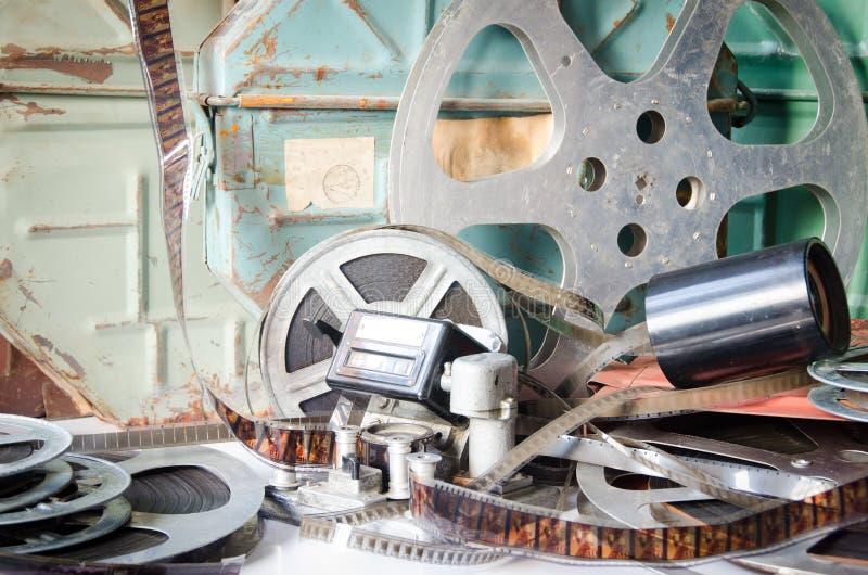 Vecchia cinematografia dell'attrezzatura della macchina fotografica immagini stock libere da diritti