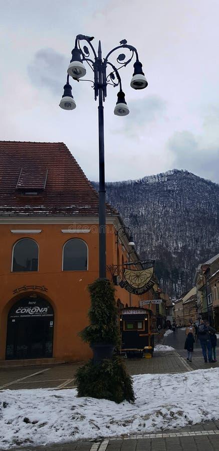 Vecchia città Brasov, Romania fotografia stock