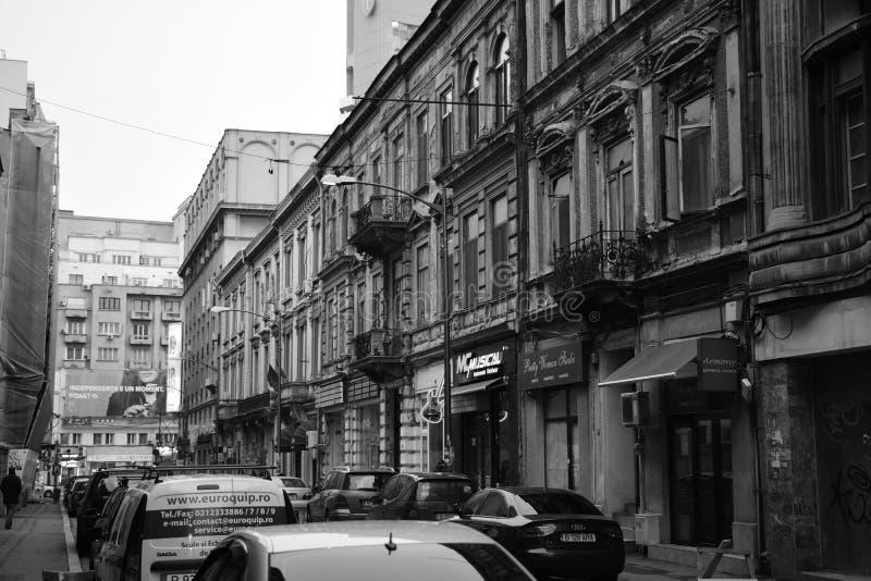Vecchia città Bucarest immagini stock libere da diritti
