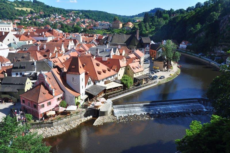 Vecchia città Cesky Krumlov, repubblica Ceca fotografia stock libera da diritti