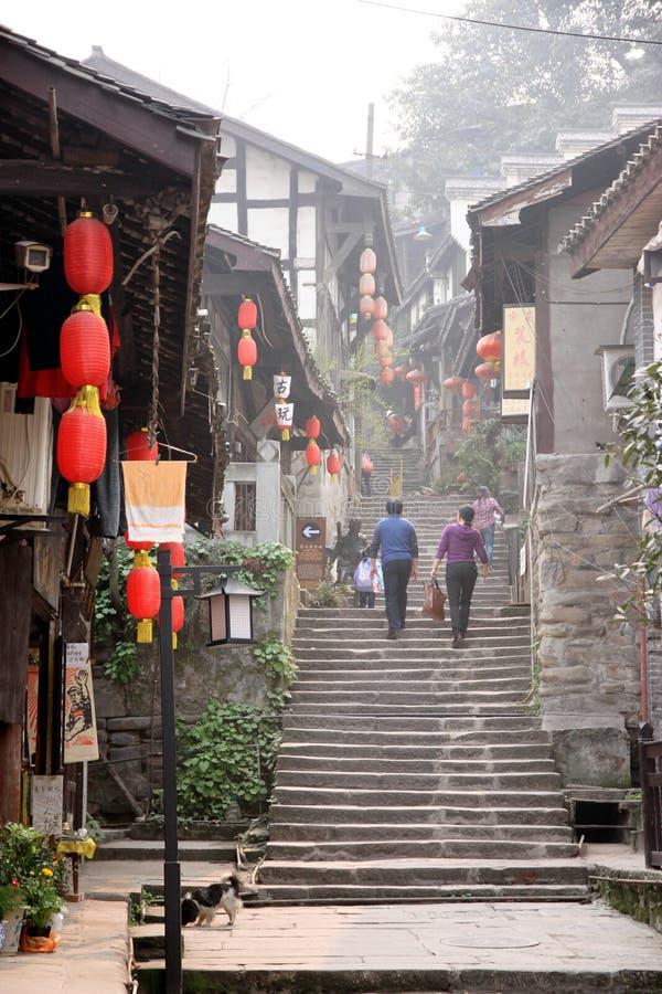 Vecchia città Chongqing fotografie stock libere da diritti