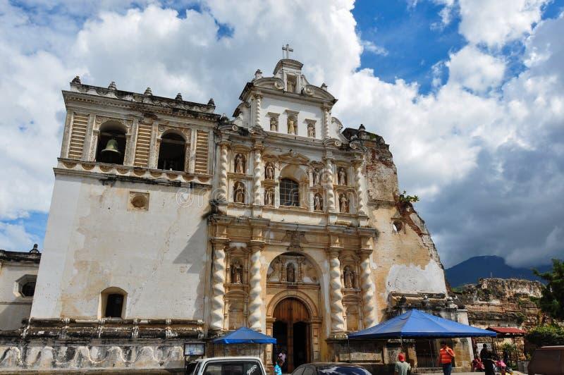 Vecchia città coloniale dell'Antigua, Guatemala fotografie stock libere da diritti