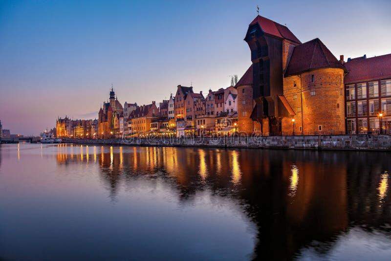 Vecchia città a Danzica immagini stock libere da diritti