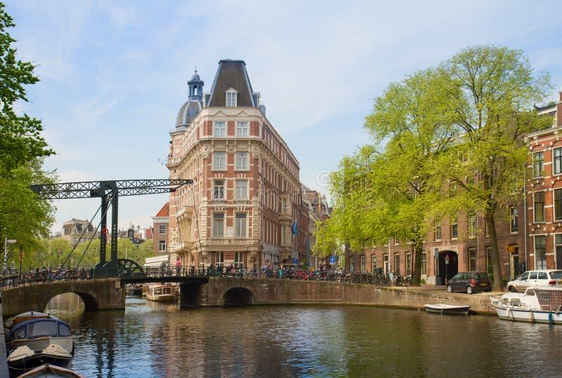 Vecchia città di Amsterdam fotografia stock