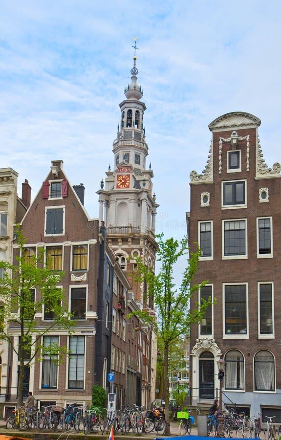 Vecchia città di Amsterdam, Paesi Bassi fotografie stock libere da diritti