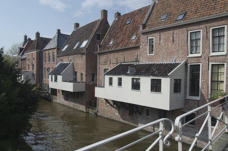 Vecchia città di Appingedam fotografia stock