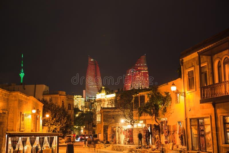 Vecchia città di Bacu immagine stock libera da diritti