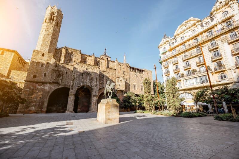 Vecchia città di Barcellona immagini stock