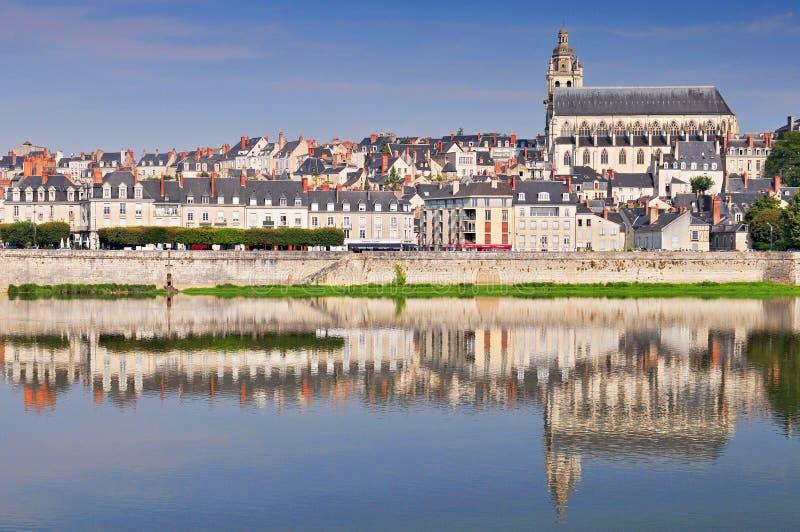 Vecchia città di Blois nel Loire Valley Francia fotografia stock libera da diritti