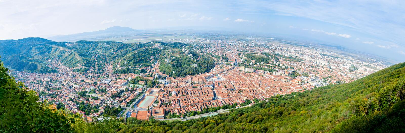 Vecchia città di Brasov nella regione della Transilvania di Romania immagini stock libere da diritti