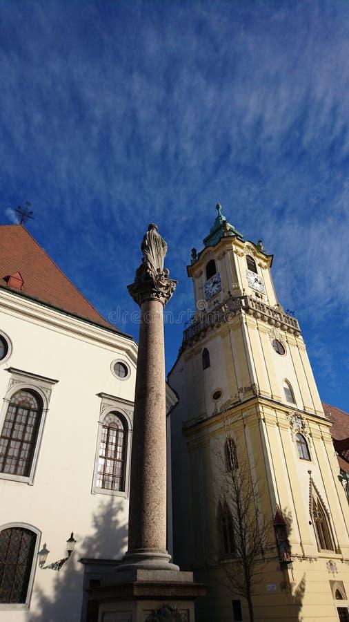 Vecchia città di Bratislava fotografie stock