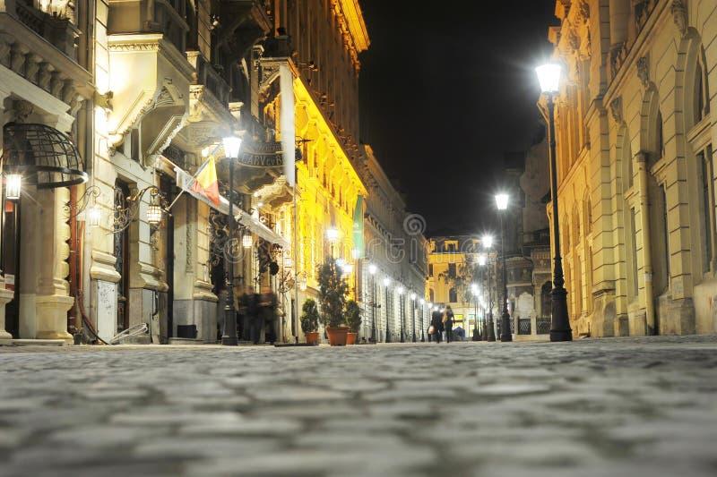 Vecchia città di Bucarest immagine stock