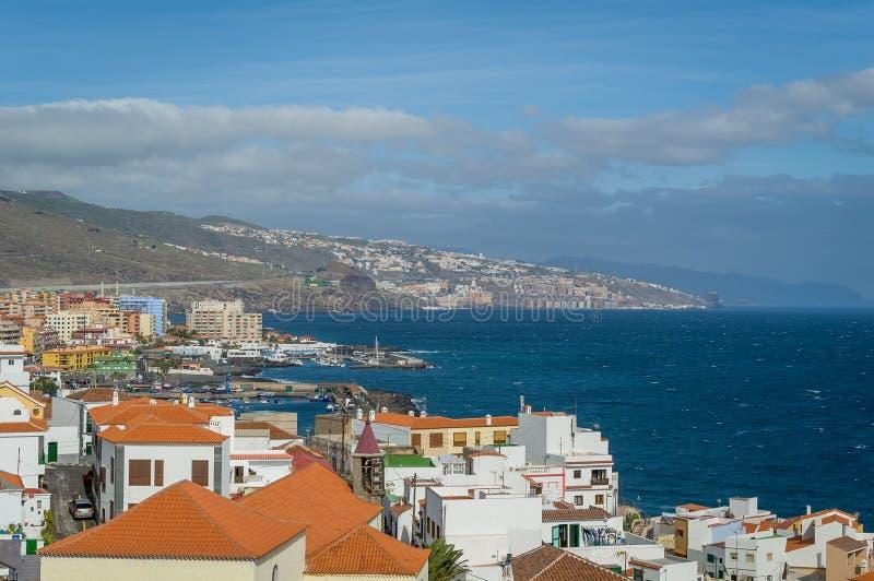 Vecchia città di Candelaria, isole Canarie immagine stock libera da diritti