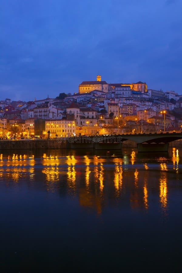 Vecchia città di Coimbra, Portogallo immagini stock libere da diritti