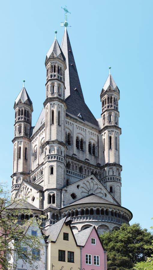 Vecchia città di Colonia fotografia stock