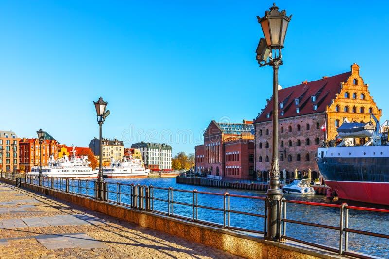 Vecchia città di Danzica, Polonia fotografie stock libere da diritti