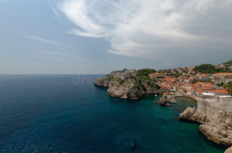 Vecchia città di Dubrovnik immagini stock libere da diritti