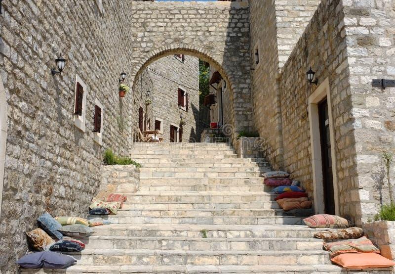 Vecchia città di Dulcigno, Montenegro fotografia stock libera da diritti