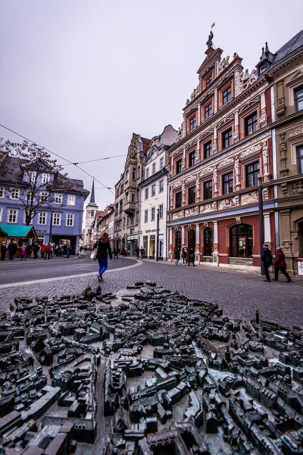 Vecchia città di Erfurt fotografia stock